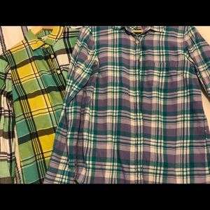 Lot of 2 J.Crew Flannel Boy Shirts